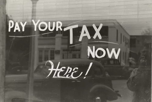 Pay your tax here window